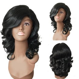 Wholesale fashion malaysia - Z&F Black Wigs Cheap Black Wigs Styles Natural Wigs Malaysia fashion medium 16inch Hair free Shipping wholesale