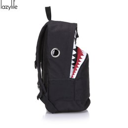 Wholesale Canvas Big Backpack For School - LAZYLIFE Cute Backpack For Teenage Girls School Backpack Big Shark Canvas