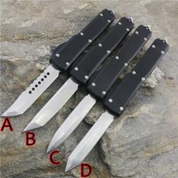 2020 coleção faca caça MICROT UT70 Arredondada lidar com tamanho completo D2 lâmina dupla ação Caça Facas de coleta de Bolso de pesca auto defesa lanterna desconto coleção faca caça