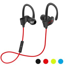 Wholesale Wireless For Bass - 1pcs 56S Wireless Bluetooth Earphones Waterproof Headphones Stereo Bass Headset Sport Ear Hook Earbuds With Mic for note8 iphone8 7