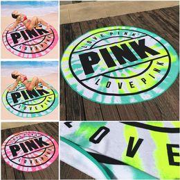 asciugamani microfibra ad asciugatura rapida Sconti Asciugamano da spiaggia rotondo in microfibra rosa da 160 cm Asciugamano da bagno Asciugamano da spiaggia per asciugatura rapida e morbido Asciugamano da coperta per picnic I286