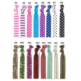 Wholesale hair tie hairband elastic - 16 Colors Knotted Women Hair Ties Elastic Leopard Hair Bands Women Girls' Hair Accessories Stripes Elastic Hairband CCA10120 200pcs
