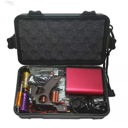 Wholesale equipment for tattoos - Tattoo Kit Professional with Best Quality Permanent Makeup Machine For Tattoo Equipment Cheap Red Tattoo Machines