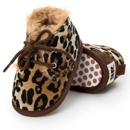 Bebé Botas de invierno Recién nacido Niño pequeño Niños Primeros Caminantes Calientes Niñas Niños Suela blanda Antideslizante Prewalker Zapatos de bebé Leopardo desde fabricantes