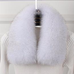 Wholesale Real Steal - wholesale silver fox Winter Women's Real Fox Fur Collar Fur Cap Collar 60cm Straight Soft Scarf Neck Warmer