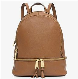 Wholesale brown suede purse - 2018 new Fashion women famous brand backpack style bag handbags for girls school bag women luxury Designer shoulder bags purse