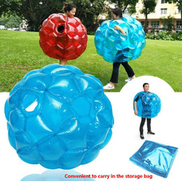 Wholesale games activities kids - Inflatable Body Bumper Ball PVC Air Bubble 90cm Outdoor Kids Game Bubble Buffer Balls Outdoor Activity Party Favor OOA4915