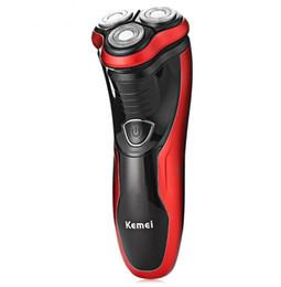 цены триммеров Скидка Аккумуляторная электробритва моющийся триммер barbeador лицо мужчины бритвенная машина грумер борода kemei 3D электрическая бритва