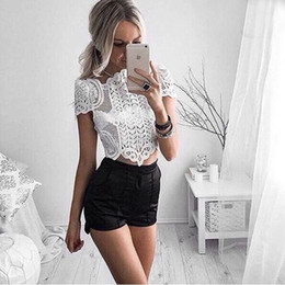 748691e9bb Sexy Women Boho Tank Tops Bustier Bra Vest Crop Top Shirt Bralette White  Lace Crop Hot Sale 2016 Summer Fashion Crochet Top