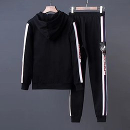 Wholesale Medusa Hoodie - g3 2018 brand designer Men's jogging suits medusa printed shark hoodies sweatshirt slim fit tracksuits for men jacket sweatshirts