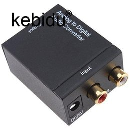 tv adaptors Promo Codes - Kebidu Analog to Digital ADC Converter Optical Coax RCA Toslink Audio Sound Adapter SPDIF Adaptor for TV for Xbox 360 DVD