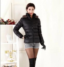 Wholesale Ladies Velvet Short Jackets - Winter Outdoor Warmth Ladies Jacket Hooded Fashion Parkas Solid Color casual Outerwear Slim Outfit Short Women Parkas