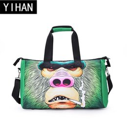 Wholesale Stamped Bag - Factory wholesale brand package personalized digital 3D printing handbag fashion cartoon travel bag with high quality 3D stamp travel bag