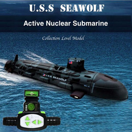 Wholesale Rc Brushless - Newest Quality US Seawolf RC Submarine Model Nuclear-Powered Submarine RC Remote Control Boat Charging children's Toys
