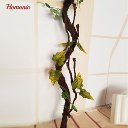 Wholesale Long Branches Artificial Flowers - Beautiful decorative artificial trees Long Soft Plastic Dried Tree Branch Plant Wedding Home House Decoration110 140 180cm P35