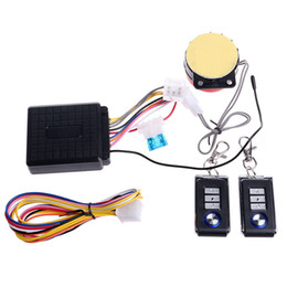 Wholesale universal engines - New Universal Motorcycle Anti-theft Alarm Security System With Remote Control Engine Start Lock Motorbike Scooter Protection