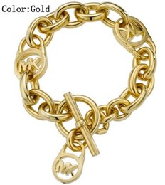 Sterling silber mama schmuck online-MOM SCHWESTER MIMI NANA Fashion Gold Lock Damen Armband Hohe Qualität Hot Sterling Silber Schmuck Kostenloser Versand B011