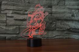 2019 éclairage d'ambiance bricolage 2019 3D Lamp Game Jeu Chug Jug Scar Rocket Launcher Gliding LED veilleuse 7 Changement de Couleur Tactile Mood Lamp Dropship promotion éclairage d'ambiance bricolage