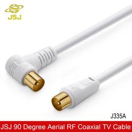 2019 antenas tv JSJ 90 graus TV 9.5 mm cabo Flylead antena aérea para masculino RF antena via satélite cabo desconto antenas tv