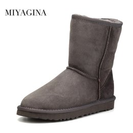 Wholesale Waterproof Wedge Winter Boots Women - Top Quality Genuine Sheepskin Leather Snow Boots for Women Waterproof Winter Boots 100% Natural Fur Wool Women Boots
