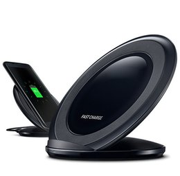 мобильный телефон сотового телефона qi Скидка Быстрое беспроводное зарядное устройство Qi Quick Charge подставка для сотового телефона зарядная база с держателем охлаждающего вентилятора для S9 S9 plus iphone 7 8 plus XS max Xr