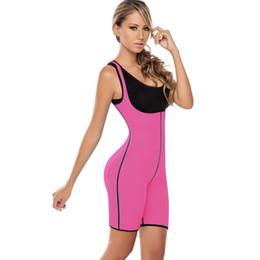 Женский костюм для сауны онлайн-Women vest Neoprene waist cincher trainer workout sauna suit waist corset hot shaper body lady plus size
