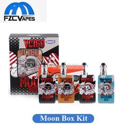 Wholesale Gold Moon - Authentic Sigelei Vcigo Moon Box Mod Adjustable Voltage Wattage E Cigarette Vape Kit Powered By Dual 18650 Battery 100% Original