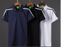 Wholesale Painting Loose - New Fashion Summer Short Sleeve Letter Color block Polo Shirts Brand Mens Polos shirt tops