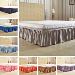 взъерошенная покрывала Скидка Elastic Princess Bed Skirt Sheet Twin Queen King Size Ruffle Fold Pastoral Style Fit Bedspread Hotel Home Decor Maress Cover