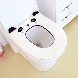 Wholesale Animal Shaped Cases - Fashion Toilet Seat Cover Mat Warm Cartoon Animal Shape Washable Bathroom Soft WC toilet seat mat
