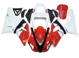Wholesale Yamaha R1 Red White - 4 Free Gifts New motorbike fairings set fit for YAMAHA 1998 1999 YZF-R1 98 99 YZFR1 98 99 YZF R1 YZFR1000 ABS fairing red white
