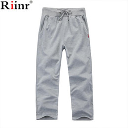 Wholesale Wholesale Fitness Clothing For Men - Wholesale- Riinr 2017 New High Quality Jogger Pants Men Fitness Bodybuilding Gyms Pants For Runners Clothing Autumn Sweat Trousers Britches