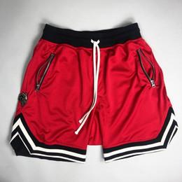 Pantalon de rue en Ligne-2017 Peur de Dieu modèles de hip hop Hip Hop Street basket-ball pantalons courts streetwear Justin Bieber Haute Qualité Hommes femmes Shorts