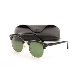 a8da22b4432f5 High Quanlity Sunglasses Plank glasses black Sunglasses Brand Designer sun  glasses Metal hinge glasses New mens womens sunglasses with Box