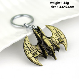Wholesale Stealth Plates - Batman Batwing Metal Keychain Stealth Edition Loot Crate Batmobile Keyring for Car Key Chains Chaveiro Llavero Key Ring Holder