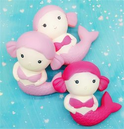 Wholesale Fine Toys - Cartoon Mermaid Squishy Slow Rebound Toy Jumbo Lovely Doll Squishies Decompression Toys Kid Gfit Decorative Prop 13hba C