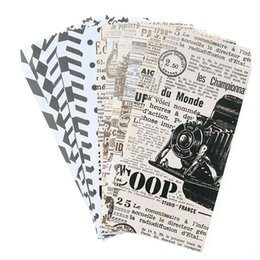newspaper bags Coupons - (19.5 * 8.7cm) Chinese Wind Envelope Vintage Newspaper Classic Black And White Envelope Child Gift Stationery 6pcs  Bag