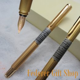 Fuliwen F06 Benzersiz Eşkenar Dörtgen Cheetah grafik Kalem Vücut 10 K Altın Uç Dolma Kalem Yüksek Kalite Altın Hediye Mürekkep supplier gold graphics nereden altın grafikler tedarikçiler