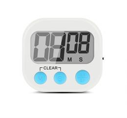 Temporizador de mano online-Pantalla LCD Digital Kitchen Timer Recordatorio de cocina con soporte que entrega gancho Loud Alarm Imán diseño para pegarse al refrigerador SN1169