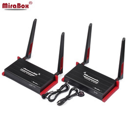 Wholesale Remote Ir Extender - MiraBox 300m (984ft) Wireless HDMI Extender With IR Remote Control Support 1080P HDMI Wireless Extender 300m Sender Receiver