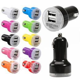 Chargeur de voiture universel en Ligne-Usine Vente USB Double Chargeur De Voiture Coloré Mini allume-cigare Universel Chargeur De Batterie De Voiture Pour Samsung S9 NOTE 8