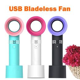 Wholesale wholesale handy fan - Zero 9 No Leaf Fan USB Portable Cooling Mini Handheld Bladeless Cooler Air Condition Fan Handy Fans 3 Colors OOA5379