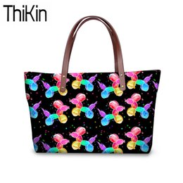 82822cc62eec THIKIN Women Handbags Balloon Dogs Printing Shoulder Tote Bag Ladies Funny  Design Top-Handle Bags for Girls Large Book Bag