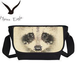 Wholesale green engines - Hynes Eagle Moter Engine Printing Crossbody Bags Fashion School Handbag Messenger Bag Teenager Children Shoulder Bag Large
