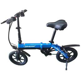 складной велосипед электрический Скидка 14 дюймов электрический велосипед мини электрический E велосипед смарт складной литиевая батарея 36 в 250 Вт город EBIKE складной Мотоцикл скутер