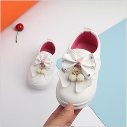 Wholesale pink dance sneakers - 0-2 Years Newborn Baby Fashion Soft Kids Children's Dance White Princess Shoes Spring Summer Toddler Girls Diamond Sneaker