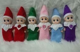 2019 jouets élves Elf bébé en peluche jouet bébé elf de noël en peluche l'étagère poupées garçon fille figure décoration jouets de noël de noël 10 cm promotion jouets élves