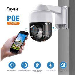 2019 ip camera zoom аудио Fayele безопасности POE 1080P MINI PTZ-камера 4-кратный оптический зум ИК-Cut ночного видения 60м Открытый IP купольная камера ONVIF P2P Аудио скидка ip camera zoom аудио