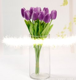 Wholesale Tulips Fake Flowers - AGI-257 11pcs PU Tulip Real Touch Artificial Flowers Wedding Home Decoration Party Birthday Hotel Decorative Fake Flower
