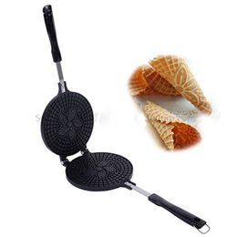 Wholesale waffle cones - Crispy Egg Roll Maker Crispy Ice Cream Cone Mould Waffle Baking Tool Hot Sale with Non-stick Cooking Surface